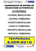 Memoria Campeonatos de España 2010