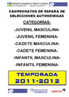 Memoria Campeonatos de España Enero 2012