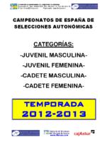 Memoria Campeonatos de España 2013