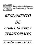 Reglamento de Competiciones Territoriales Edición 2015