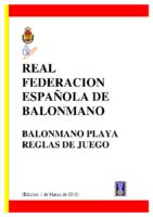 Reglas Balonmano Playa Edic.2010