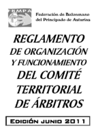 Reglam.Organización y Funcionamiento Cte.Árbitros Edic.2011