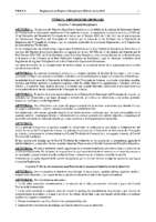 Reglamento de Régimen Disciplinario Edición 2015