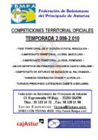 Resultados y Clasificaciones Todas las Competiciones Territoriales 2009-2010