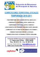 Resultados y clasificaciones todas la competiciones oficiales territoriales 2010-2011