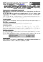 Bases Específicas Torneos Federación 2021