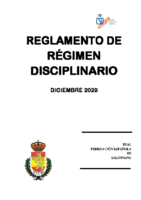 Reglamento de Régimen Disciplinario Dic. 2020