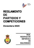 Reglamento de Partidos y Competiciones Modificación Dic. 2020